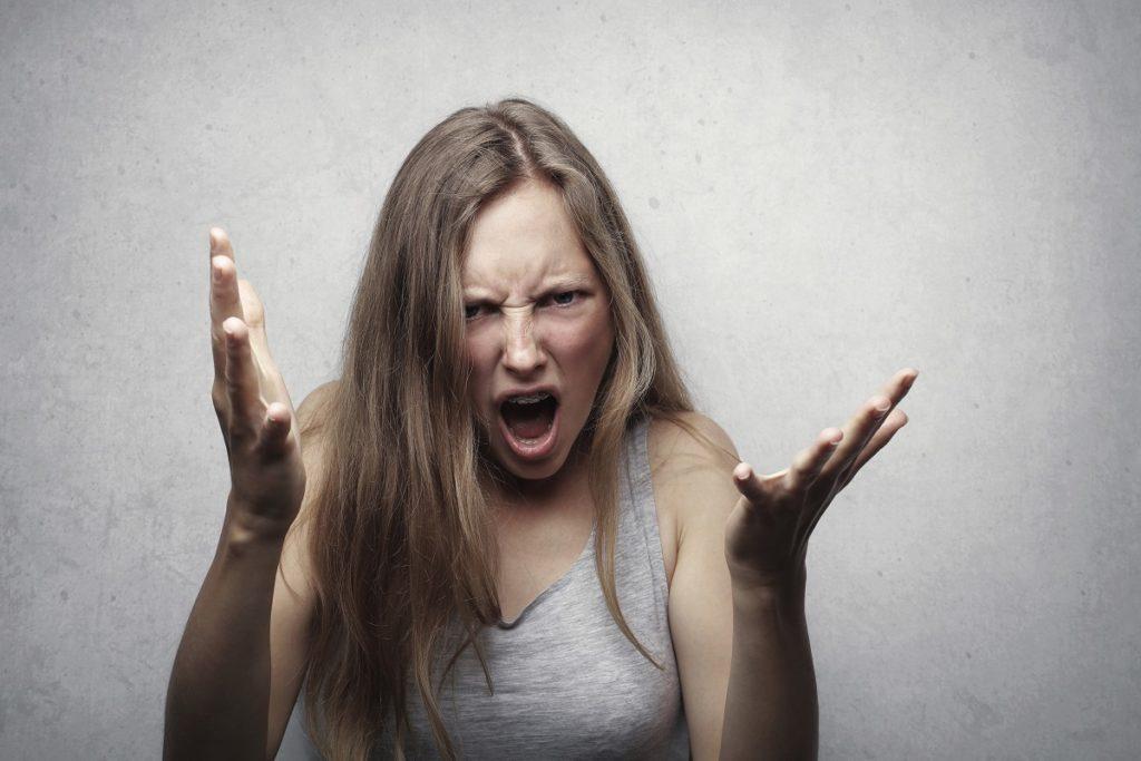 Wutausbrüche Frau